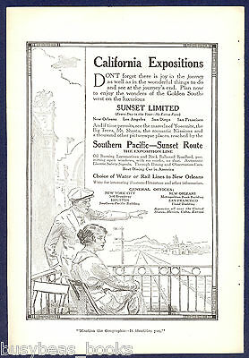1915 SOUTHERN PACIFIC Railway advertisement, California Expositions