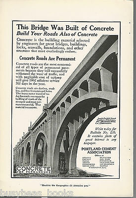 1917 PORTLAND CEMENT advertisement, concrete viaduct S. 8th St Allentown PA