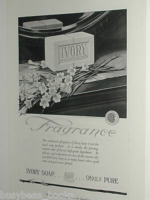 1920 IVORY SOAP advertisement page, Procter & Gamble, bar of soap