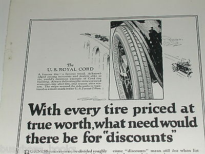 1921 United States Tires advertisement, US Rubber, Royal Cord tire