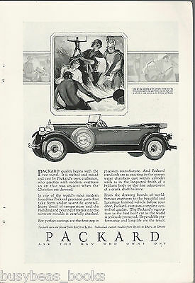 1928 PACKARD advertisement, Packard convertible, touring car Colossus of Rhodes