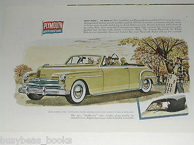1950 Plymouth ad, Plymouth convertible