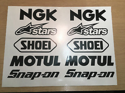 Motorcycle Belly Pan Fairing Decals Stickers Sponsor kit. Any color.