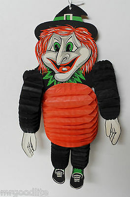 Fabulous Old BEISTLE Halloween WITCH Dancer American Diecut