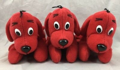 Clifford the Big Red Dog Plush Puppy Scholastic 2003 Wendys Norman Bridwell Toy