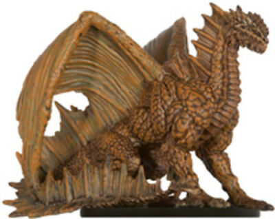 D+D miniatures 1x x1 Adult Brown Dragon Legendary Evils NM with Card