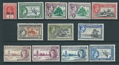 Small collection of mounted MINT Gilbert & Ellice Islands stamps.