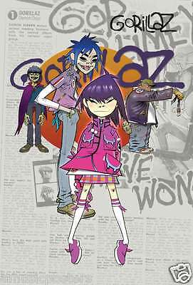 """GORILLAZ """"NOODLE IN FRONT OF THE GUYS"""" POSTER FROM ASIA - Alternative Music"""
