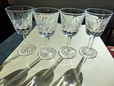 """4 Waterford crystal glass Lismore cocktail liqueur 3 1/2"""" glasses"""