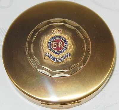 MINT ROYAL ENGINEERS MILITARY LADIES VANITY MIRROR POWDER COMPACT By MASCOT