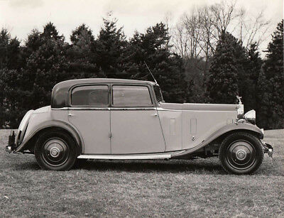 Pre-War Rolls Royce Four Door Saloon Photograph.