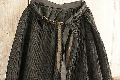 Antique Victorian petticoat skirt black crepe wonderful !