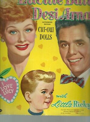Vintage 1953 Lucy & Desi With Little Ricky Uncut Whitman 2126