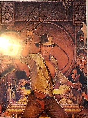RAIDERS OF THE LOST ARK - Vintage Magazine Poster - Amsel - Indiana Jones 1981