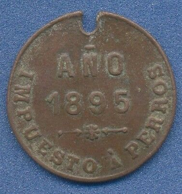 *Vintage DOG tag TAX Cordoba City 1895 Argentina medal token