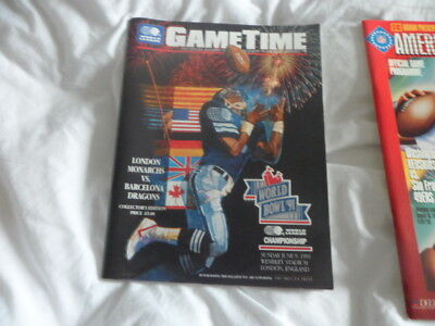 London Monarchs V Barcelona Dragons-9/6/1991-Collectors Edition Programme