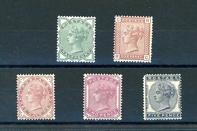 GB 1880-81   Set (5)  SG 164/169  Heavily Hinged MINT/Spacefiller (O1291)