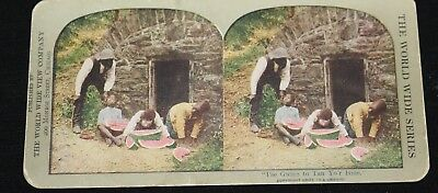 Boys caught, stealing & eating Watermelons. Colored. World Wide View Co.