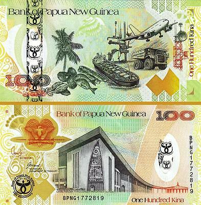 PAPUA NEW GUINEA 100 KINA 2008 UNC HYBRID COMMEMORATIVE.35'th ANNIVERSARY P 37