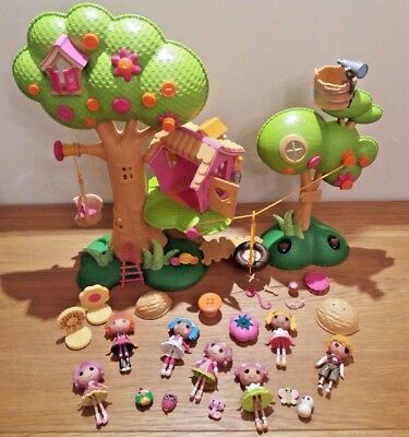 ❤ Lalaloopsy Tree House Bundle 7 Mini Lalaloopsy Dolls with Accessories & Pets