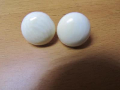 14KT Solid Gold Post Natural Bone Earrings  - Must See!