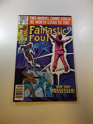 Fantastic Four #222 signed by Joe Sinnott and Bill Sienkiewicz FN condition