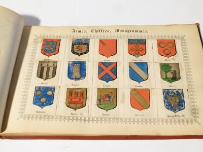 Antique Victorian Edwardian ARMES CHIFFRES Crests FOREIGN Family Album #16