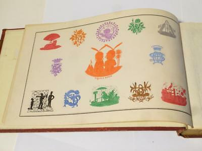 Antique Victorian Edwardian Embossed Crests Monograms Coats of Arms Album #14