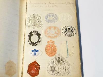 Antique Victorian Edwardian Embossed Crests Monograms Coats of Arms #21