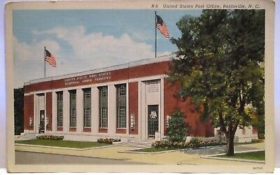 """1941 Postcard  United States Post Office , Reidsville Nc """" Posted Reidsville Nc"""
