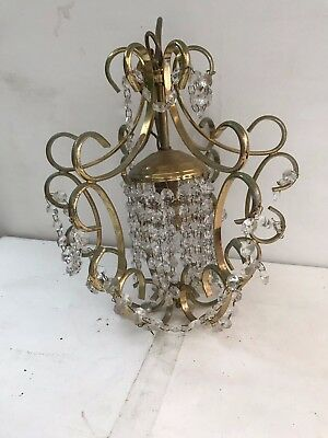 Stuning Vintage Crystal Ceiling Hanging  Chandelier Light Fitting