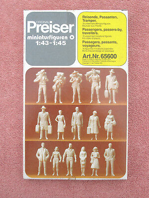 Preiser 65600: 'o' - 'passengers, Passers-By, Travellers' 16 Figures - 1:43-1:45