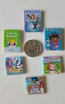 Dolls House Miniature 6 X Girls Tv Show Character Books 1.12 Scale