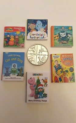 Dolls House Miniature 6 X Children Mixed Tv Show Character Books 1.12 Scale