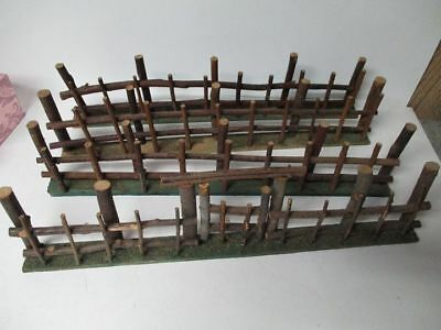 """68"""" of Old Germany Wood Twig Christmas Fence"""