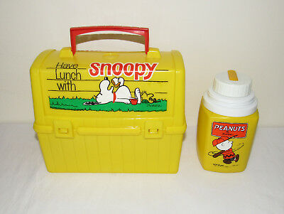 Vtg 1968 SNOOPY Woodstock Lunchbox King-Seeley Original Thermos