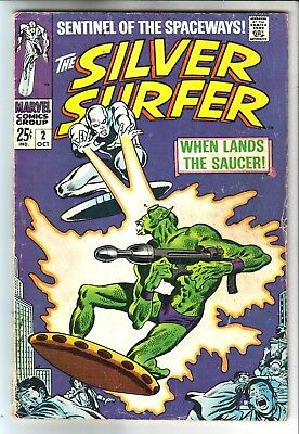 1968 MARVEL SILVER SURFER #2 WITH GD/VG GRADE - 1st APPEARANCE BADOON