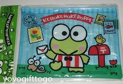 2014 Sanrio Keroppi Frog Multipurpose Bag pencil bag Pouch Mesh Bag ( S ).