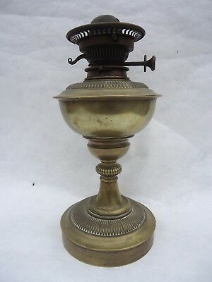 Antique Messenger's No 2 Twin Burner Brass Oil Lamp.