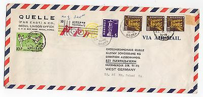 1975 KOREA Air Mail Cover SEOUL To FUERTH GERMANY
