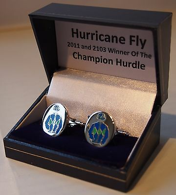 Hurricane Fly cufflinks - in his racing colours
