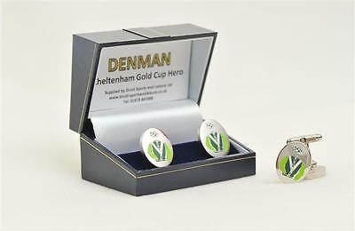 Denman cufflinks - in his racing colours