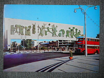 Liberty Monument In Baghdad. Vintage Colour Postcard. London Routemaster Bus.