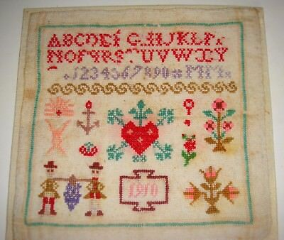 Colorful Sampler Dated 1910