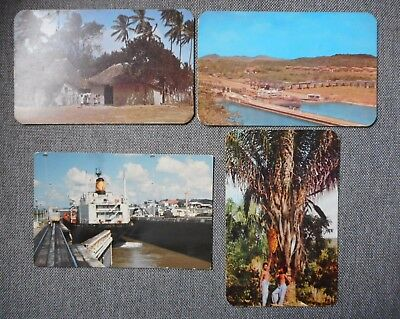 Four Panama Colour Postcards 1960s. Canal,Bohio,Palm Tree etc.
