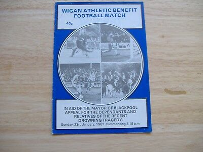 Wigan Athletic v Blackpool, Benefit Match (23/1/1983) Blackpool Drowning Appeal