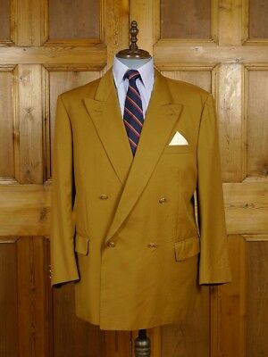 Vintage Burberry Tan Brown Double Breasted Wool Blazer Sports Jacket 45