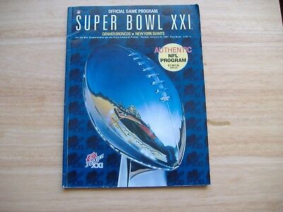Super Bowl XX1 Programme 25/1/1987, Denver Broncos v New York Giants.