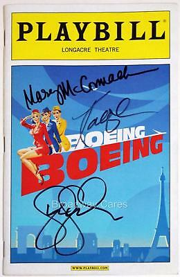 Mary McCormack, Kathryn Hahn & Gina Gershon Signed BOEING-BOEING Playbill