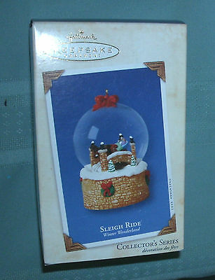 2003 HALLMARK KEEPSAKE ORNAMENT OF' SLEIGH RIDE'winter wonderland MIB